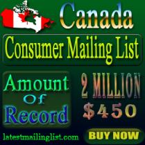 Canada Consumer Mailing List